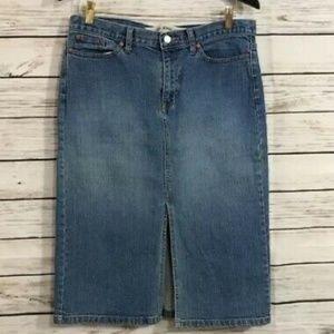 GAP Midi/Pencil Denim Skirt